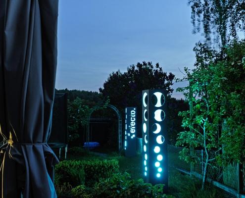 Spannende Lichtstimmung durch kühles Blau