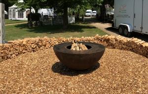 Gartenschau Feuerstelle Stahl