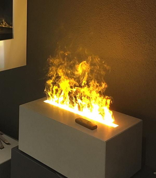 Akzentfeuer mit Licht Beton