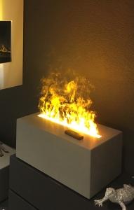 Effektfeuer in Betonblock