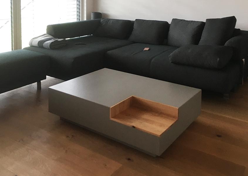 Wohnzimmertisch Beton Holz