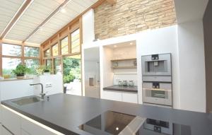 Beton Küchenarbeitsfläche Cerankochfeld bündig