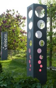Beton Gartenleuchte Gartenskulptur LED Farbwechsel