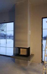 Feuertisch aus Beton in Schweden eingebaut