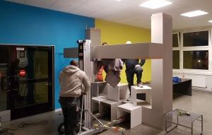 Betonrahmen - Arbeitsbereiche in Schule