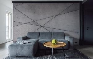 Wohnzimmer Beton Wand
