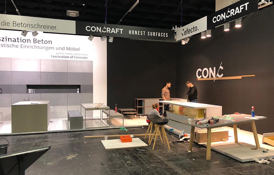 Aufbau Gemeinschaftsstand imm Köln